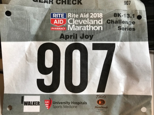My first challenge bib